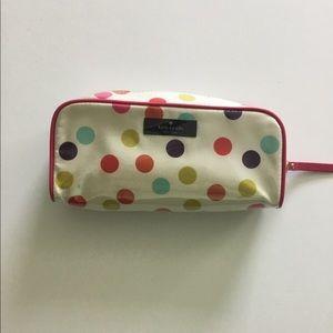 NWOT Kate Spade polka dot brush makeup bag